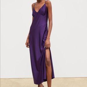 NWT Zara purple maxi dress